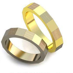 авторские обручальные кольца в виде квадратов