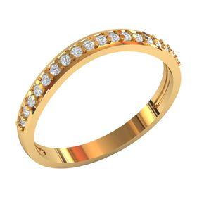 женское изогнутое кольцо с камнями