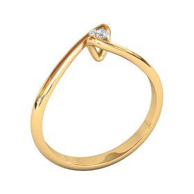 кольцо помолвочное с одним камнем