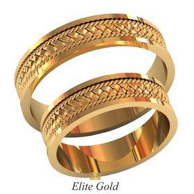 плетеные обручальные кольца без камней