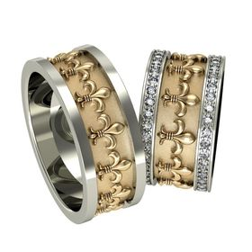 кольца Fleur De Lys в двух цветах золота