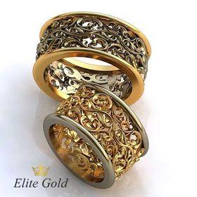 кольца Soulmates в красном и белом золоте
