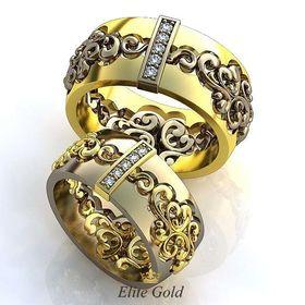кольца Joy of Love в белом и лимонном золоте