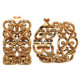 ажурные женские серьги-кольца без камней