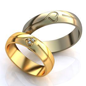 обручальные кольца с гравировкой сердце авторские