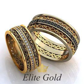 обручальные узорные кольца