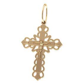 фигурный крест в красном золоте