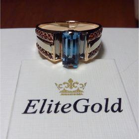 мужское кольцо с камнем лондон топаз формы багет