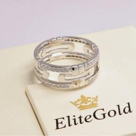 кольцо bvlgari parentesi с камнями в белом золоте