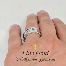 кольцо булгари реплика в белом золоте 4 спирали без камней реальное на пальце