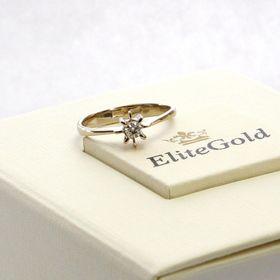 кольцо для помолвки солитер в белом золоте