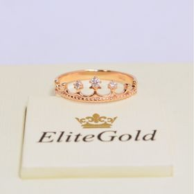 недорогое кольцо корона в красном золоте