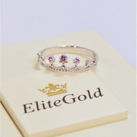 недорогое кольцо корона с аметистами