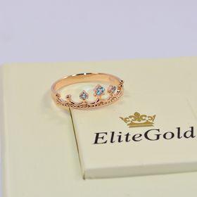 недорогое кольцо корона с топазами