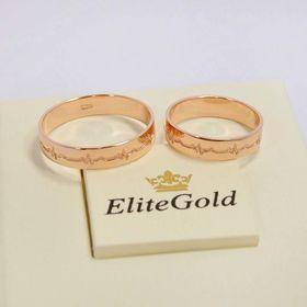 кольца Пульс в красном золоте без камней