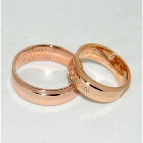матовые обручальные кольца с каймой