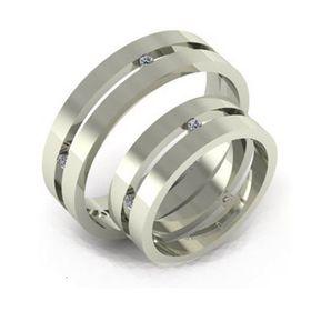 сдвоенные обручальные кольца с камнями