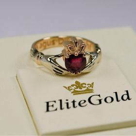 ирландское кольцо с рубином