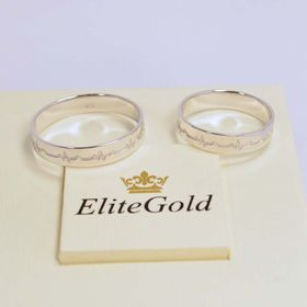 кольца Пульс в белом золоте без камней