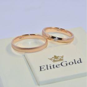 классические обручальные кольца в красном золоте женское с камнем