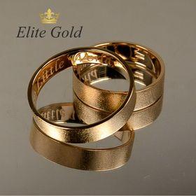 матовые классические обручальные кольца в красном золоте