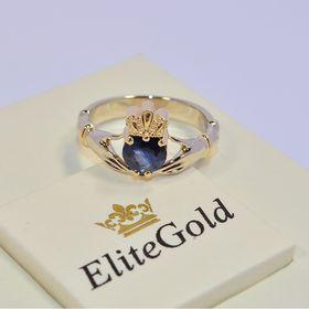 ирландское кольцо с сапфиром