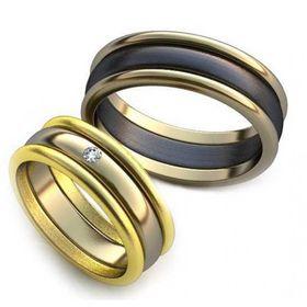 кольца обручальные классические из трех частей