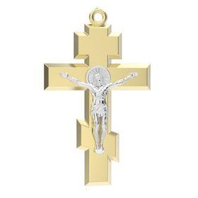 крест гладкий с распятием