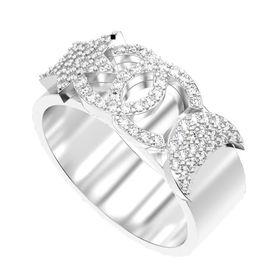 кольцо в стиле коко шанель в белом золоте
