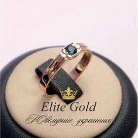 кольцо в белом и красном золоте с топазом