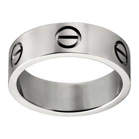 Кольцо в стиле Cartier Love в белом золоте