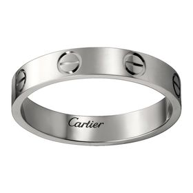 Кольцо в стиле Cartier Love Small в белом золоте