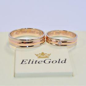 оба кольца в красном и белом золоте