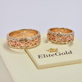 обручальные кольца Almeda в красном и белом золоте
