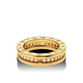 кольцо булгари с одной полосой в красном золоте