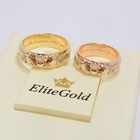 кладдахские кольца в трех цветах золота