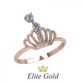 кольцо корона с подвижным камнем