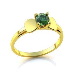 женское кольцо лепестки с камнем