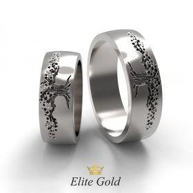кольца Дерево Жизни в белом золоте