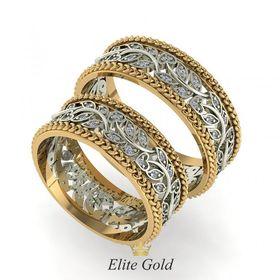 Обручальные кольца Amaranta в красном и белом золоте