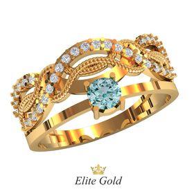 кольцо Richelle с голубым камнем в центре