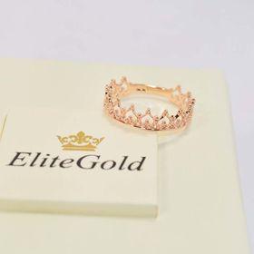 кольцо-корона в красном золоте без камней