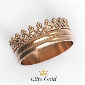 кольцо Tiara Ring в красном золоте