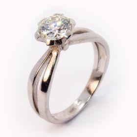 кольцо помолвочное с бриллиантом 1 карат