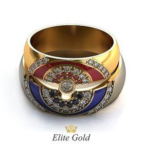 составные парные обручальные кольца с эмалью