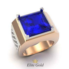 перстень Quadro с синим камнем