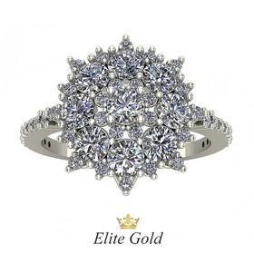 кольцо Era di Lusso, усыпанное камнями в белом золоте