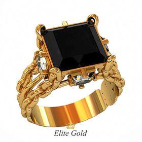 перстень Fatum с черным камнем