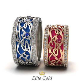 кольца с эмалью и арабскими буквами