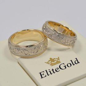 кольца Arden в лимонном и белом золоте